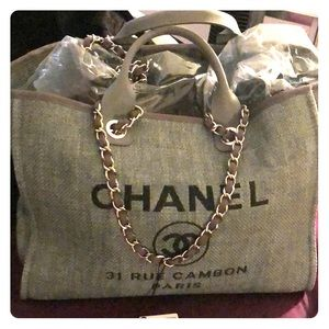 Authentic Chanel Deauville Tote